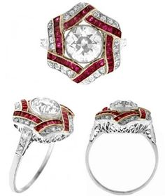 1.47ct Diamond & Rubies Ring