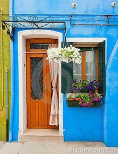 Colorful houses of Burano, Venice, Italy by Javarman, via Dreamstime
