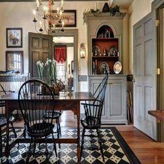 Room Makeover - Bright Idea - Home, Room, Furniture and Garden Design Ideas Colonial Home Decor, Colonial Furniture, Colonial Decorating, Craftsman Furniture, Colonial Kitchen, Primitive Dining Rooms, Primitive Homes, Primitive Decor, Primitive Kitchen
