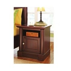 Wooden Cherry End Table Computer Printer Stand Office Furniture Wood Night Stand