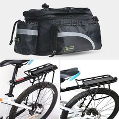 Carrier and Pannier Racks 177836: Rockbros Bike Bicycle Rear Bag Pannier Rack Alloy Seat Post Carrier Holder BUY IT NOW ONLY: $49.98