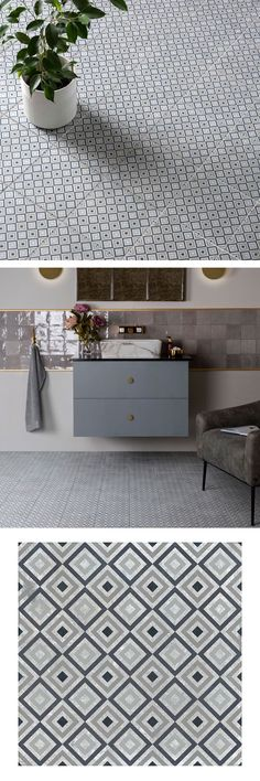 Our Ritz Deco Grey Tiles, is a play on the art deco designs, use the colour option of your choice to create a bespoke feel to any wall or floor space, use this for the natural grey tones for that monocramtic feel. Fantastically versatile to use as a feature floor or wall, or create a real statement in small spaces. Made from durable porcelain, with anti slip properties making this suitable for any area of the home inside and out.