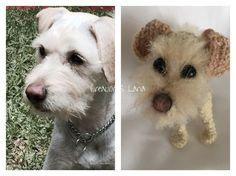 Perrito personalizado tejido en Lana crochet