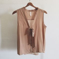 Front Tie Blouse (last medium). No trades! Last one in stock. Follow me on instagram @theanalyssa  Tops Blouses