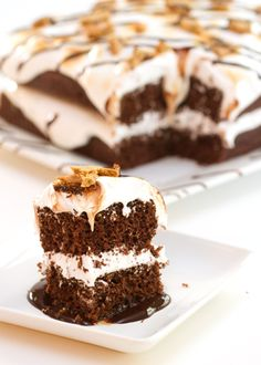 chocolate s'more cake