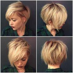 40 Super Niedliche Kurze Frisuren für Rundes Gesicht – Damen Haare