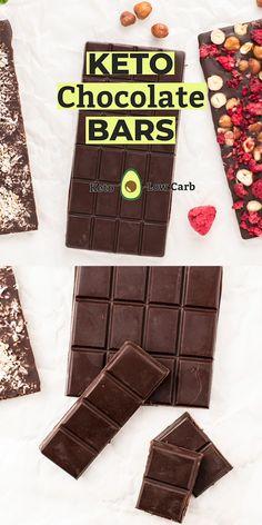 Keto Chocolate Recipe, Dark Chocolate Recipes, Low Carb Chocolate, Chocolate Bars, Healthy Chocolate, How To Make Chocolate, Mug Cake Micro Onde, Cocoa Powder Recipes, Keto Bars