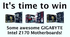 We've teamed up with #GIGABYTE to give away three of its #Intel Z170 #motherboards! Check our Facebook for details! Good luck!! #giveaway More: http://www.tweaktown.com