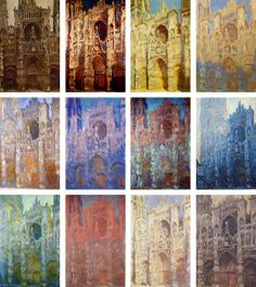 "kleinecharlotte: "" Art History Meme Themes or Series or Subjects ↳ Rouen Cathedral Series, by Claude Monet When Monet painted the Rouen Cathedral series, he had long since been impressed with. Monet Paintings, Impressionist Paintings, Landscape Paintings, Landscapes, Claude Monet, Atelier D Art, Rouen, Edouard Manet, Camille Pissarro"