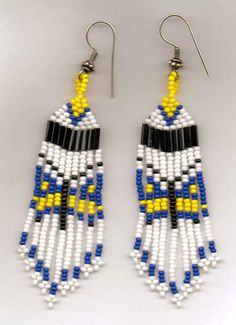 Stylized Butterfly Seed Bead Earrings.