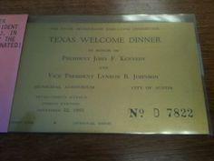 Ticket Honoring JFK - $125
