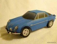 Renault Alpine A110 1600SC Paper car model