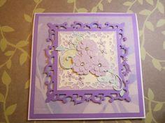 Sizzix Pop n cut card cover (Memory box flowers, Spellbinders frame)