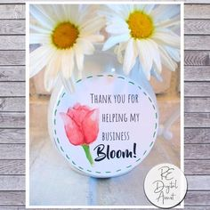 Printable Thank you for helping my business BLOOM Tags, Watercolor Floral Flower Boutique Printable Business Appreciation PDF Gift Tag - Printable PDF: Celebrate spring and show your appreciation with this printable watercolor Thank You - Succulent Centerpieces, Succulent Gifts, Succulent Care, Amanda, Flower Boutique, Gift Tags Printable, Printable Flower, Custom Tags, Corporate Gifts