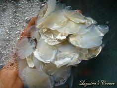 Luzmina's Corner: Paso a Paso: ¿Cómo limpiar las escamas de pescado para hacer flores?