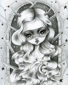 This is an 8 x 10 fine art print of my original illustration, The Wish Maker. It is professionally printed using Epson Ultrachrome professional