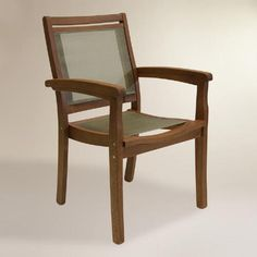 One of my favorite discoveries at WorldMarket.com: Wood Galena Stacking Armchair