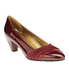 "Soft Style by Hush Puppies ""Danette"" Pumps in Wine"