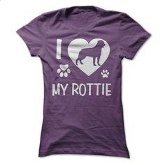 I Love My Rottie - #dress shirts #navy sweatshirt. I WANT THIS => https://www.sunfrog.com/Pets/I-Love-My-Rottie-Purple-Ladies.html?60505