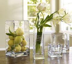 Ceramic Vases, Square Glass Vases & Clear Glass Vases | Pottery Barn