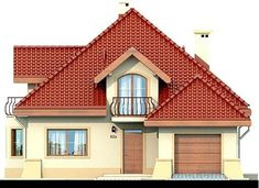 DOM.PL™ - Projekt domu DN Modena CE - DOM PC1-22 - gotowy koszt budowy Sims House Plans, Family House Plans, Dream House Plans, Home Building Design, Building A House, Beautiful Home Designs, Beautiful Homes, Kerala House Design, Kerala Houses
