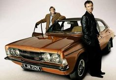 Philip Glenister and John Simm in Life On Mars - glad I got a pic of the car