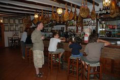 Paco y Pepe's bar in capileira....look at all that jamon serrano!