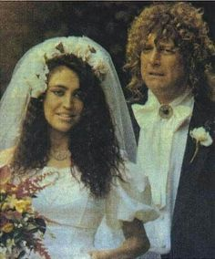 Robert Plant gives his daughter away at her wedding.