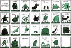 Alfabeto delle onomatopee by Tom Gauld