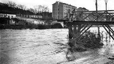 ARCHIVO DE ABC |Crecida del río Manzanares en febrero de 1910. En la imagen el puente de Garrido destruido por la corriente
