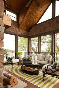 Enclosed Sun Porch home style decorate porch ideas windows sunroom design interior design