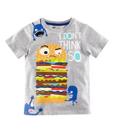 I don't think so burger tee - I think so. Rawr, monsters. Burgers. Awesome. H