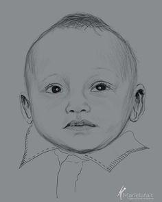 Portrait d'un tout petit garçon.