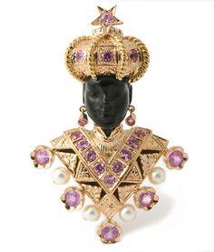 "18 kt. pink gold ""Moretto Paola"" brooch set with pink sapphires ©2010 Nardi - Venezia, Piazza San Marco 69  Tel.:(+39)0415225733  Fax:(+39)0415232150  info@nardi-venezia.com"