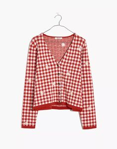 Women's New Arrivals: Clothing, Bags & More | Madewell Gingham, Madewell, Sweater Cardigan, Daisy, Super Cute, Ruffle Blouse, Slim, Sweaters, Cotton