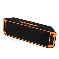 Cheap Neissstar Portable Wireless Speaker Bluetooth 4.0 Stereo Subwoofer Built-in Mic Dual Speaker Bass Sound Speakers Support TF USB FM Radio (Orange) Best Selling