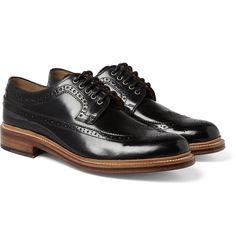 GrensonSid High-Shine Leather Brogues MR PORTER