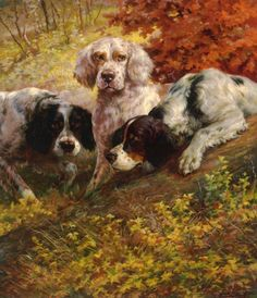 Three+Setters+on+the+Scent%2C+by+Edmond+H.+Osthaus.jpg 582×678 pixels