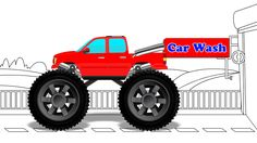 Monster Truck | Car Wash | Big Truck | Learn Truck for Children & Babies