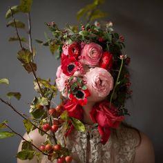 ❀ Flower Maiden Fantasy ❀ beautiful photography of women and flowers - Kristen Hatgi, Flower Face, A Still Life Portrait Series