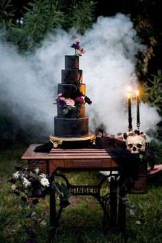Wedding Themes Halloween wedding inspiration - This Halloween-themed spooky inspiration shoot was set in Payson, Arizona, were a fire had burned down the forest. Set in-between the trees, they staged a romantic Halloween ballet. There were hors… Pagan Wedding, Free Wedding, Plan Your Wedding, Wedding Tips, Perfect Wedding, Wedding Events, Wedding Planning, Wedding Day, Spring Wedding