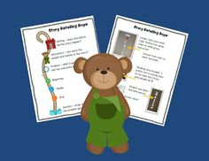 Corduroy Bear story retell rope and many other activities!
