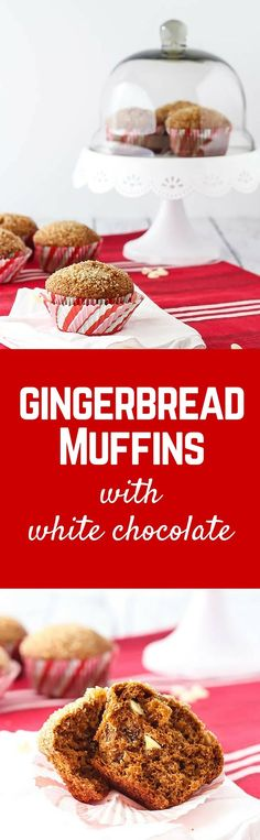 Gingerbread Muffins with White Chocolate Chips are perfect for Christmas morning or any other morning. The crunchy sugar topping makes them completely irresistible. Get the recipe on RachelCooks.com! #sponsored #InTheRaw @InTheRawBrand