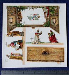 Vintage Paper Nativity Scene Creche uncut sheet, 1930