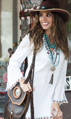 Fashion Roadshow: Round Top Fashion - Page 3 of 9 - Cowgirl Magazine Cowgirl Outfits, Western Outfits, Boho Outfits, Fashion Outfits, Cowgirl Dresses, Cowgirl Clothing, Western Dresses, Country Outfits, Country Girls