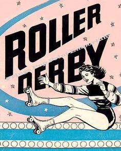 Vintage Roller Derby Advertisement