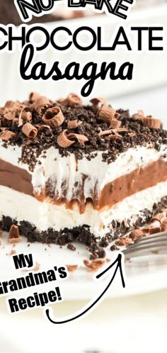 No-Bake Chocolate Lasagna - Oreos Cool Whip Pudding & More! - Helm&DessertWCE ...out cleanRichmond Chocolate Frosting12 c granulated white sugar 1 12 T cornstarch 1 oz unsweetened baking chocolate grated or chopped 12 c boiling wat...f online recipe sites and videos available to help you get comfortable before you ever go into the kitchen Gain experience by starting with a simple r #mydessertsjournal.com #desserts-no-bake-chocolate #lovedesserts No Bake Chocolate Desserts, No Bake Chocolate Cheesecake, Chocolate Lasagna, Peanut Butter Desserts, Baking Chocolate, No Bake Desserts, Dessert Recipes, Chocolate Pudding, Christmas Desserts Easy