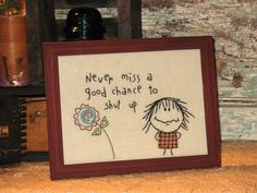 Humorous Doodle Art Embroidered Stitchery