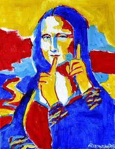 """#Deaf_Artists: #NancyRourke """"Mona Lisa Deaf"""""""
