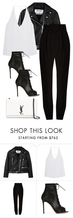 """""""Untitled #10547"""" by katgorostiza ❤ liked on Polyvore featuring Acne Studios, Cushnie Et Ochs, Haider Ackermann, Gianvito Rossi and Yves Saint Laurent"""